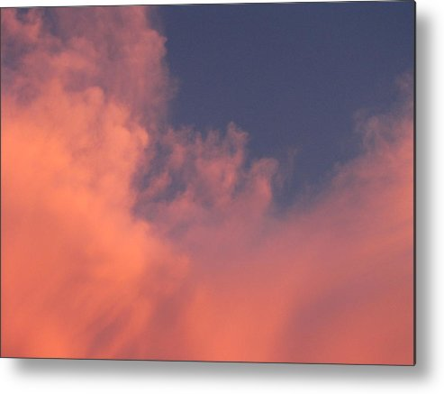 Pink Clouds Metal Print featuring the photograph Pink Clouds by Nancy Hopkins