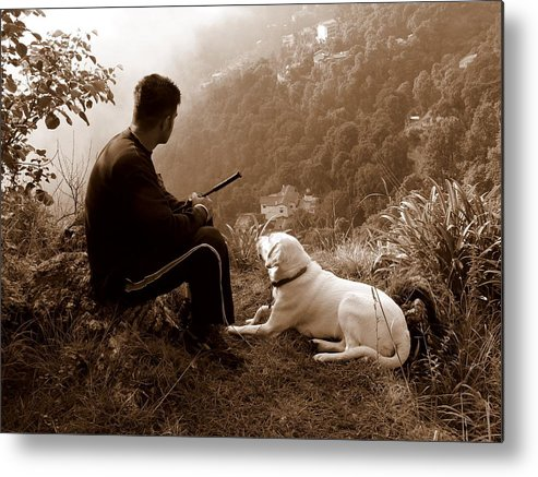 Dog Metal Print featuring the photograph Piton And Bruno by Padamvir Singh