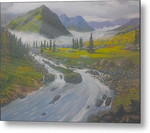 Landscape Metal Print featuring the painting Pleasant Valley by Glen Gray