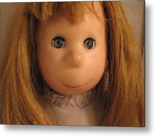 Doll Metal Print featuring the photograph Poor Pitiful Pearl by Susie DeZarn