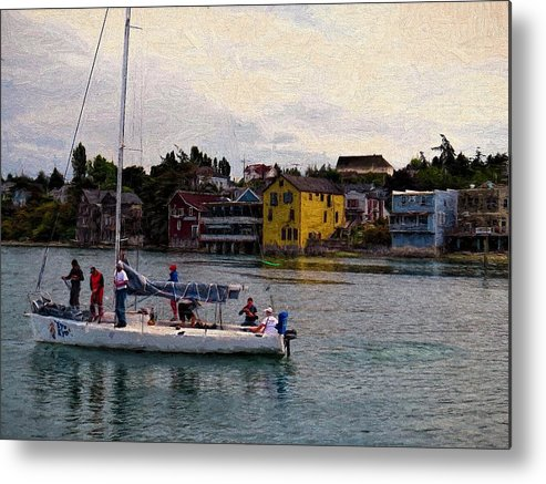 Sailboat Metal Print featuring the photograph Preparing To Sail by Rick Lawler