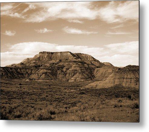 North Dakota Metal Print featuring the photograph Pretty Butte by Cris Fulton