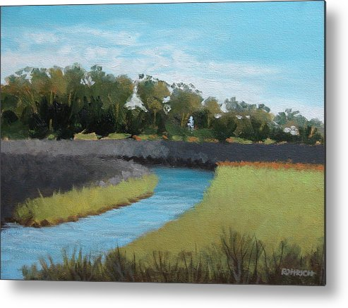 Landscape. Waterway Metal Print featuring the painting Princess Place Preserve by Robert Rohrich