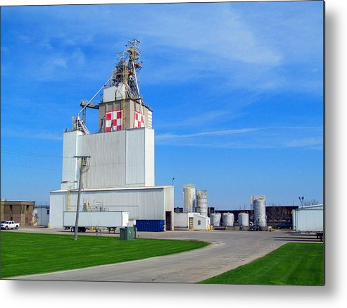 Animal Feed Metal Print featuring the photograph Purina Factory by Tina M Wenger