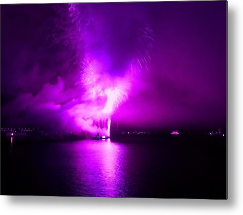 Fireworks Metal Print featuring the photograph Purple Haze by Kendall Eutemey