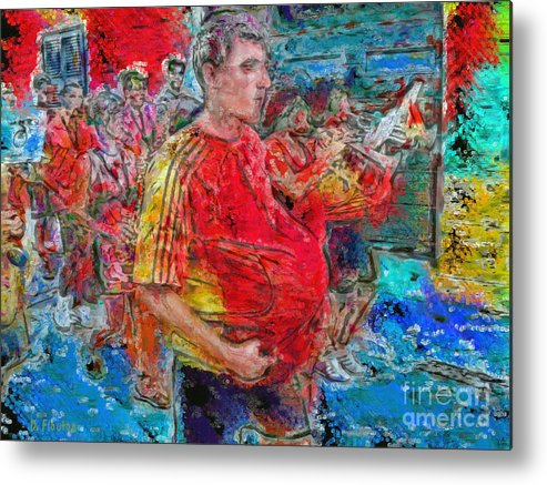Fiesta Metal Print featuring the photograph Pushing The Envelope Or Under The Hood by Dee Flouton