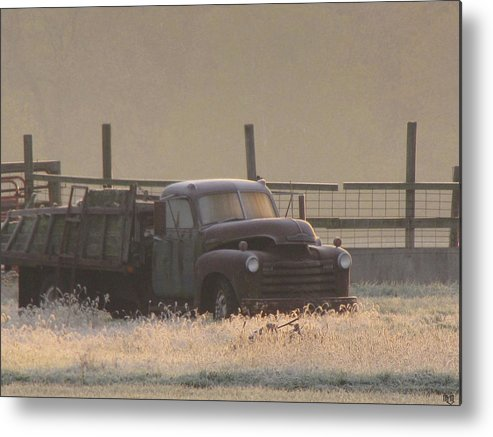 Old Farm Truck Metal Print featuring the photograph Put Out To Pasture by Michael L McKinley