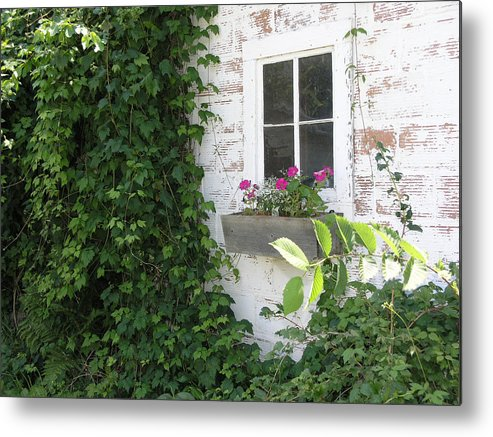 Cottage Metal Print featuring the photograph Quaint Cottage At The Farm by Janis Beauchamp