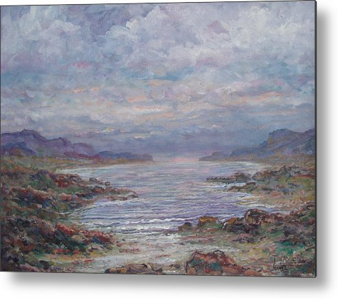 Painting Metal Print featuring the painting Quiet Bay. by Leonard Holland