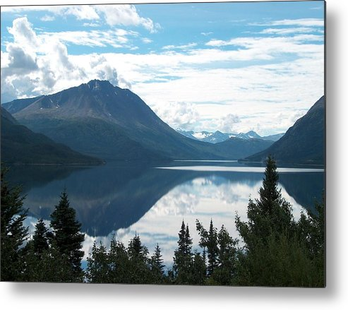 Tutchi Metal Print featuring the photograph Rare Moment On Tutchi Lake by Janet Hall