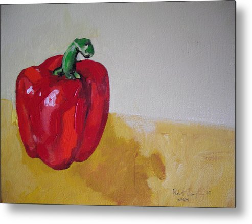 Vegetable Metal Print featuring the painting Red Bell by Robert Cunningham