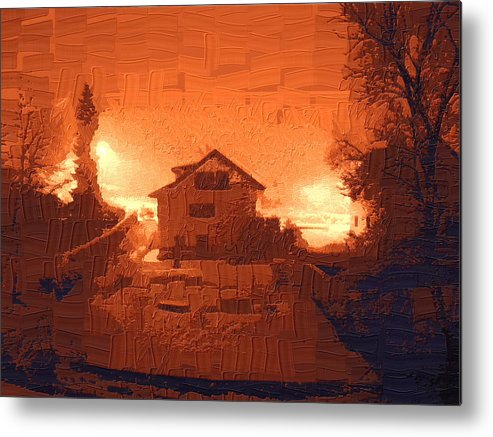Landscape Metal Print featuring the photograph Red Morn by Chuck Shafer