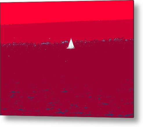 St Kitts Metal Print featuring the photograph Red Sea by Ian MacDonald