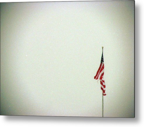 Metal Print featuring the photograph Red Whiteout And Blue by Off The Beaten Path Photography - Andrew Alexander