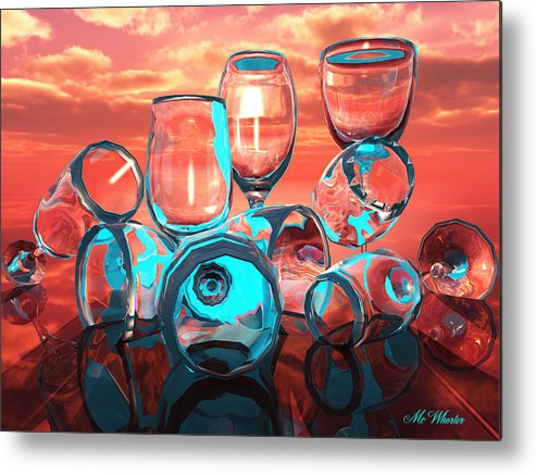 3d Metal Print featuring the painting Merlot by Williem McWhorter