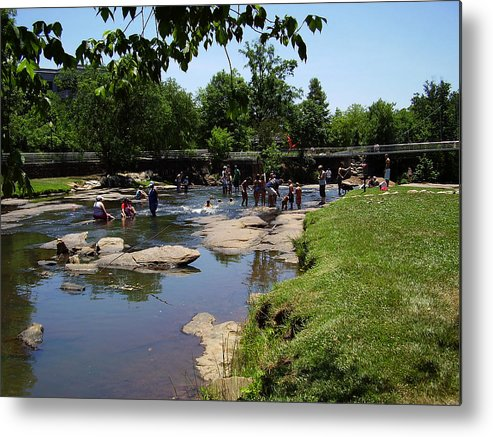 Reedy River Metal Print featuring the photograph Reedy River by Flavia Westerwelle