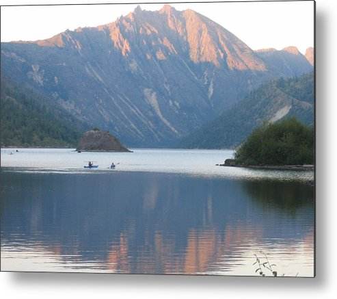 Metal Print featuring the digital art Reflection by Barb Morton