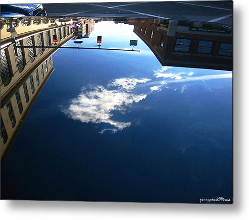 Reflection Metal Print featuring the photograph Reflection Glass Roof by Gerard Yates