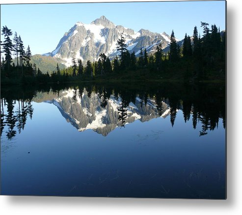 Mount Baker Nf Metal Print featuring the photograph Reflection Lake by Joel Deutsch
