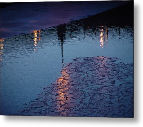 Water Metal Print featuring the photograph Reflections by Eric Workman