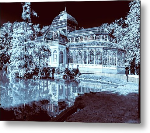Spain Metal Print featuring the photograph Retiro Park Crystal Palace by Claude LeTien