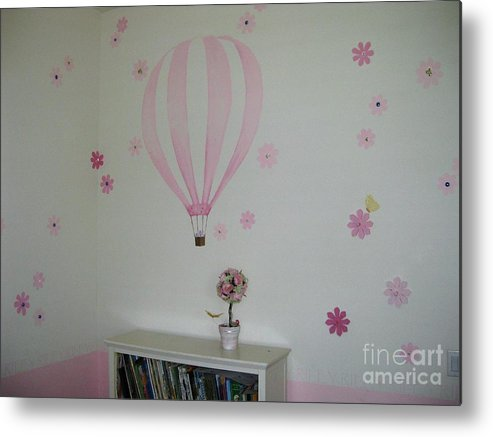 Children's Room Metal Print featuring the painting Riley's Room 1 by Maria Hunt