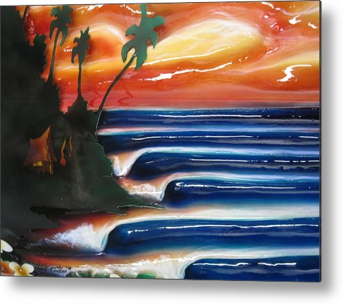 Surf Metal Print featuring the sculpture Rincon by Ronnie Jackson