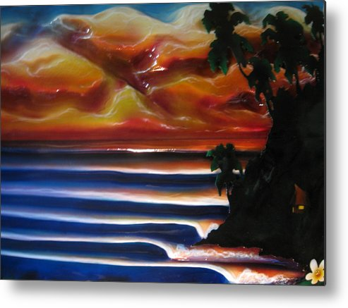Surf Metal Print featuring the sculpture Rincon2 by Ronnie Jackson