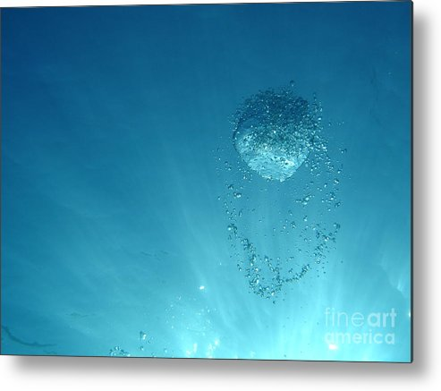 Abstract Metal Print featuring the photograph Rising Bubble by Chad Natti