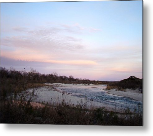 River Metal Print featuring the photograph River At Dusk One by Ana Villaronga