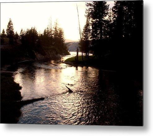 Yellowstone Metal Print featuring the photograph River In Yellowstone by Jana Goode