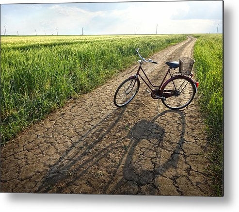 Straldja Metal Print featuring the photograph Road To Childhood by Krasimir Tolev