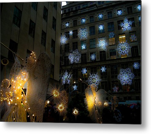 New York Metal Print featuring the photograph Rockefeller Center Christmas by Patrick Flynn