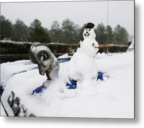 Snowman Metal Print featuring the photograph Rockin' Ronnie Ridgeway by Lynda Dawson-Youngclaus