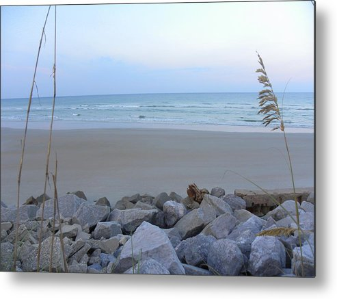 Metal Print featuring the photograph Rocks At Sunset by Janet Dickinson
