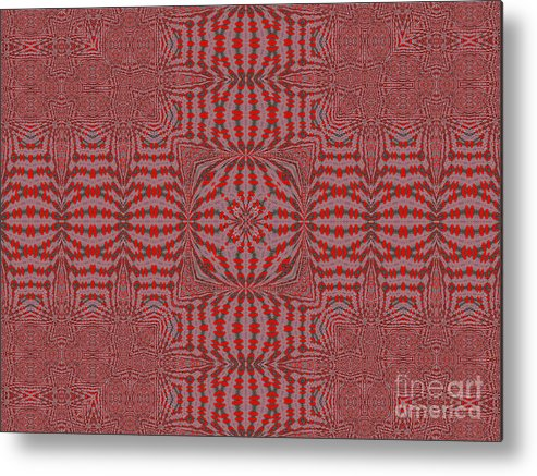Red Metal Print featuring the mixed media Roja -04- by Patricia Griffin