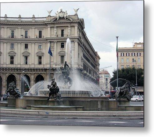 Rome Metal Print featuring the photograph Rome Italy Fountain by Brett Winn