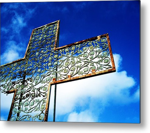 Cross Metal Print featuring the photograph Room At The Cross by Beverly Hammond