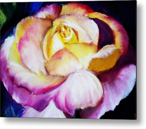 Rose Metal Print featuring the print Rose by Melinda Etzold