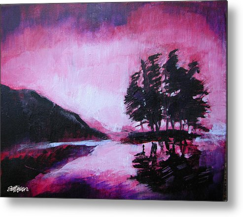 Ruby Dawn Metal Print featuring the painting Ruby Dawn by Seth Weaver