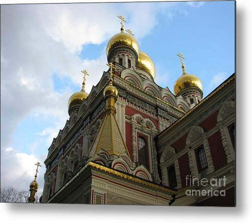 Architectual Metal Print featuring the photograph Russian Church Domes by Iglika Milcheva-Godfrey