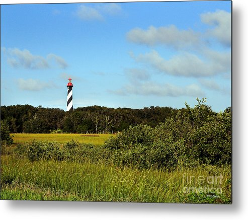 Marsh Metal Print featuring the painting Saint Augustine Lighthouse by Addison Fitzgerald