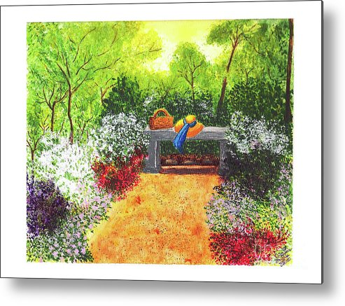 Garden Painting Metal Print featuring the painting Sanctuary by Patricia Griffin Brett