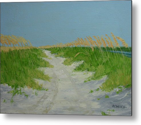 Ocean Metal Print featuring the painting Sand Dunes No 4 by Robert Rohrich
