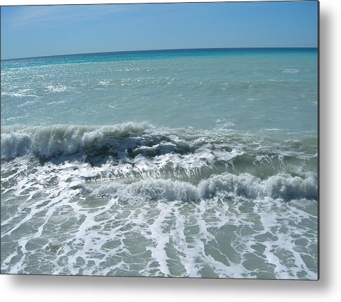 Sea Metal Print featuring the photograph Sea Waves In Italy by Tiziana Verso
