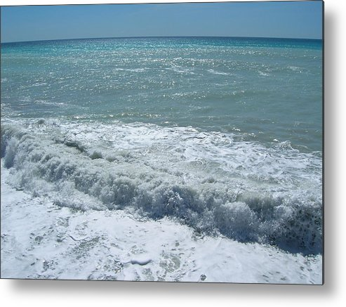 Sea Metal Print featuring the photograph Sea Waves by Tiziana Verso