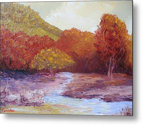 Landscape Metal Print featuring the painting Season Change by Belinda Consten
