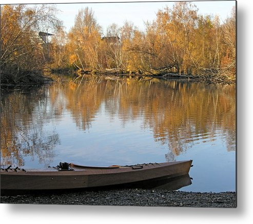 Water Metal Print featuring the photograph Seattle Arboretum by Shirley Stevenson Wallis