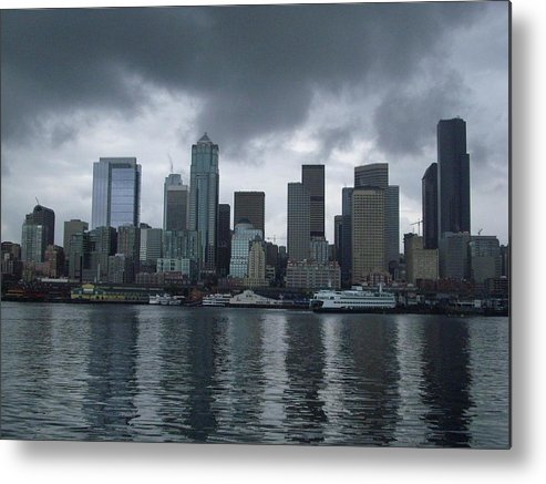 Seattle Metal Print featuring the photograph Seattle by TL Randleman