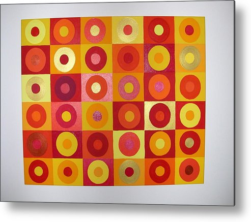 Orange Metal Print featuring the painting Seeing Red by Gay Dallek